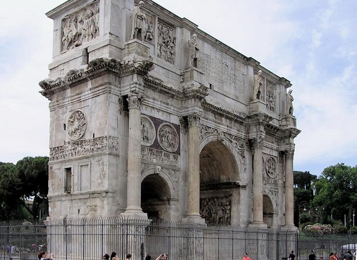 Arch of Constantine - Roma'da gezilecek yerler