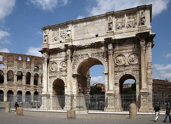 Arch of constantine takı - romada gezilecek yerler