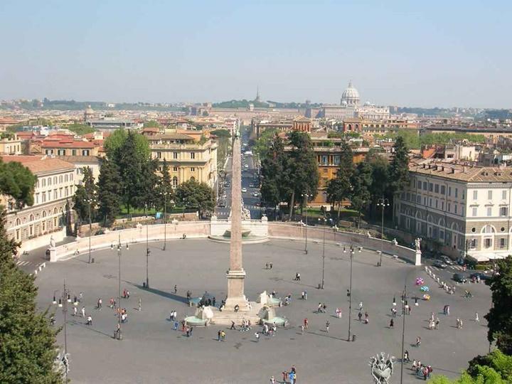 Piazza del Popolo meydanı roma - romada gezilebilecek meydanlar