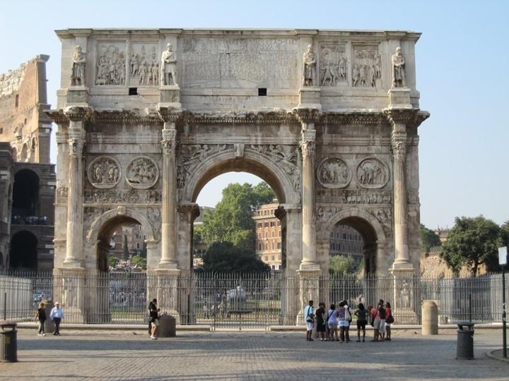Roma rehberi Arch of Constantine - Roma'da gezilecek yerler