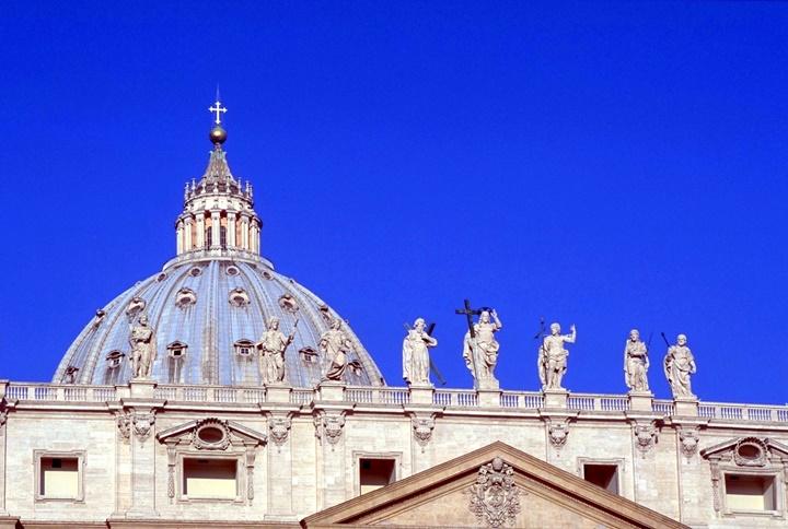 San Pietro Bazilikasının kubbesi - vatikanda gezilecek yerler
