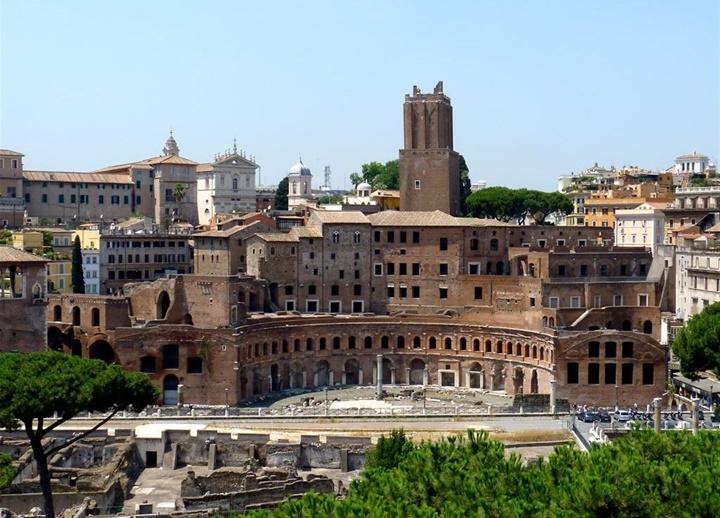 Trojan's market roma - romada gezilecek yerler