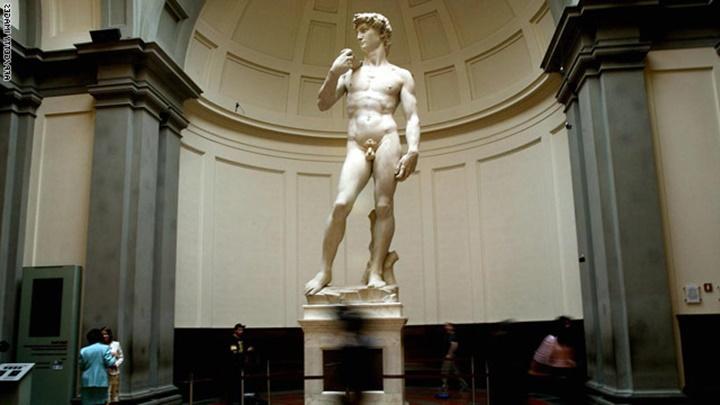 Floransa Michelangelo Davut Heykelinin orjinali