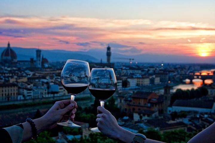floransada şarap - floransada yeme içme