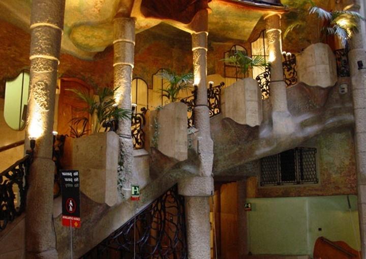 Barcelona Casa Milanın içi