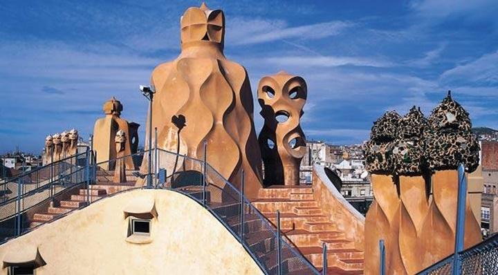 Barcelona Casa Mila'nın terası
