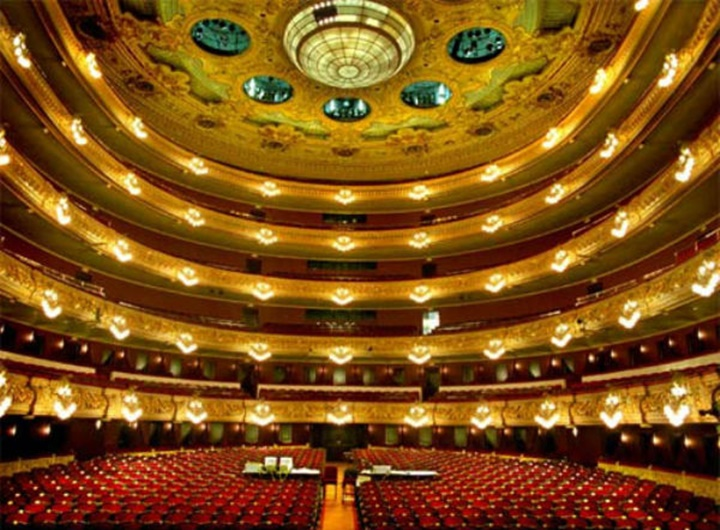 Barcelona Gran Teatre Del Liceu Opera Binasının içi