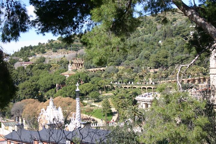 Barcelona Park Güell içinde yer alan gaudi müzesi