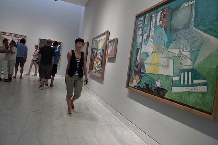 Barcelona Picasso Müzesinin içi
