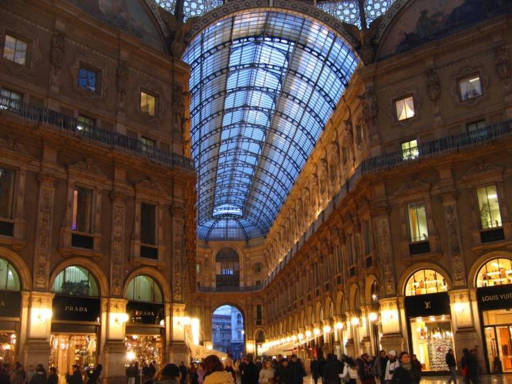 Milano Galleria Vittorio Emanuele Alışveriş Merkezi