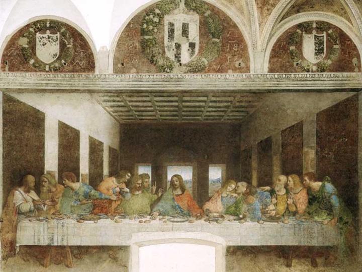 Milano Santa Maria Delle Grazie Kilisesinde yer aln son yemek freski