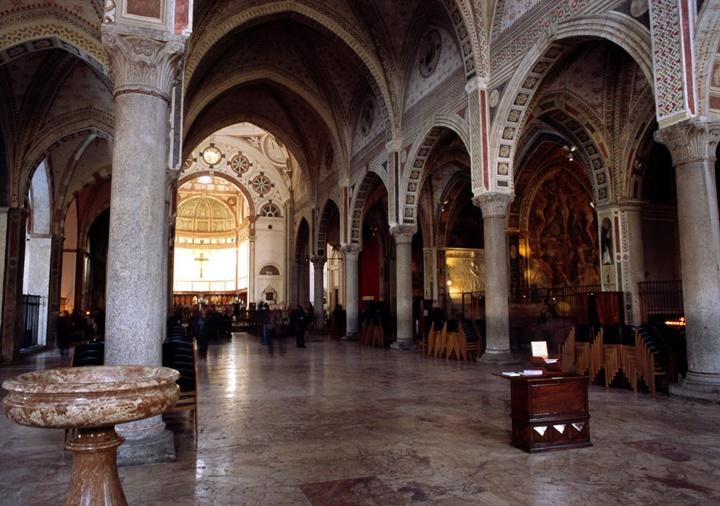 Milano Santa Maria Delle Grazie Kilisesinin içi