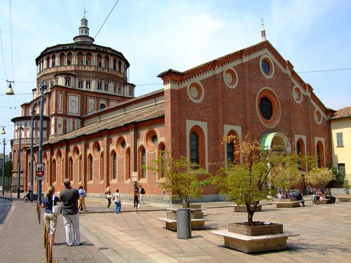 Milanoda gezilecek yerler - Milano Santa Maria Delle Grazie Kilise ve Mansatırı