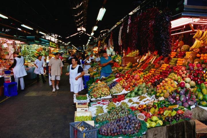 barcelonada gezilecek yerler - barcelona pazarı - Barcelona La Boqueria pazarı