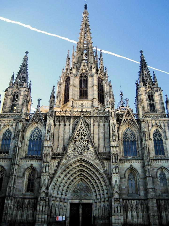 catedral de la santa cruz y santa eulalia katedrali - barcelona katedralinin fotoğrafları