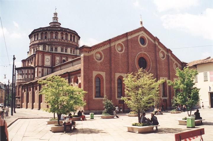 milanoda gezilebilecek önemli kilise ve yapılar- Milano Santa Maria Delle Grazie Kilise ve Mansatırı