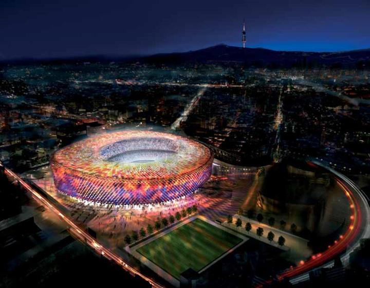 Barcelona Nou Camp Stadyumunun içi