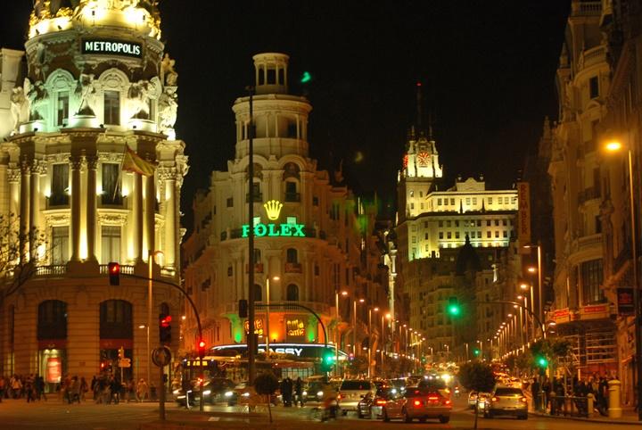 Madrid Gran Via Caddesii