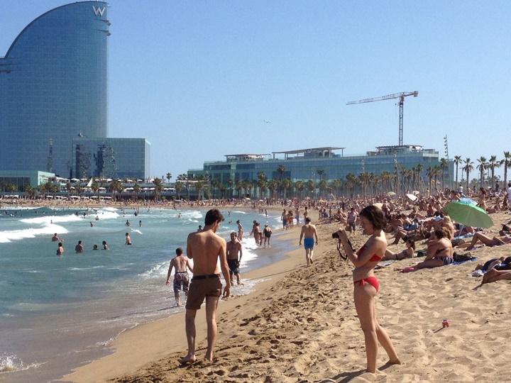 barcelona plajları - Barceloneta plajı
