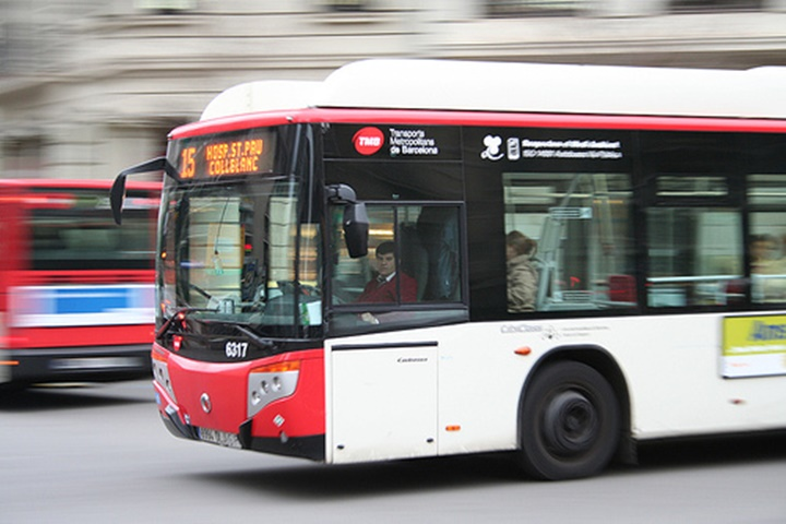 barcelonada otobüs ile ulaşım