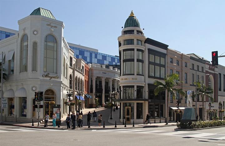 Beverly Hillsde yer alan mağazalar