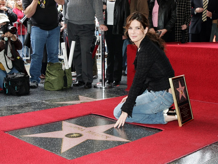 Sandra Bullock Honored With Star On The Hollywood Walk