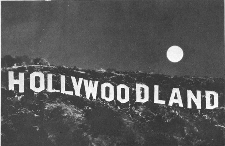 hollywood yazısının ilk hali