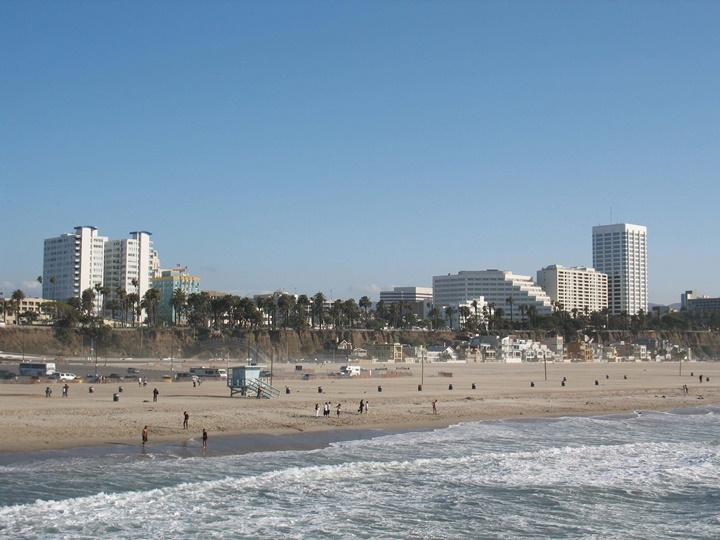 santa monica plajı görüntüleri