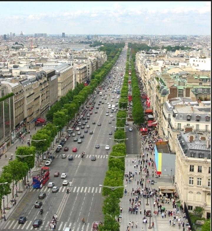 Paris Şanzelize Caddesi