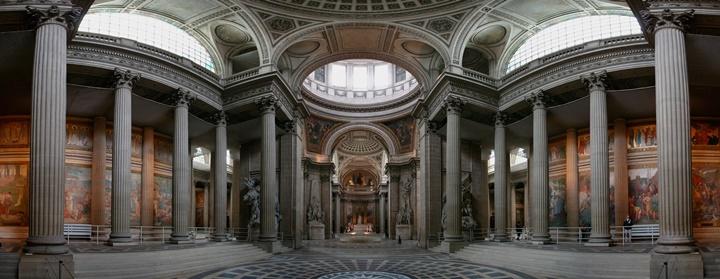 Paris Pantheon Kilisesinin İçi