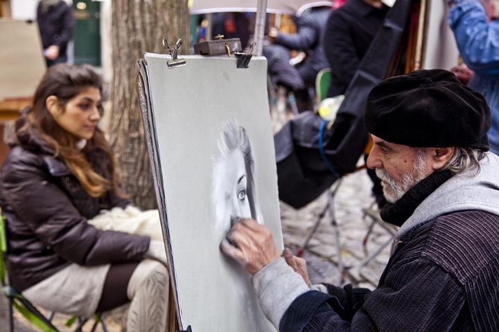 pariste gezilecek yerler - Paris Ressamlar Tepesi