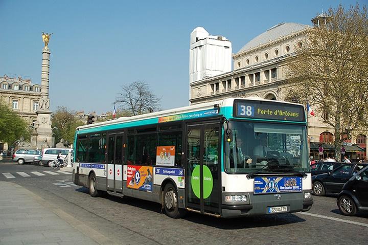 Paris şehir içinde otobüs ile ulaşım