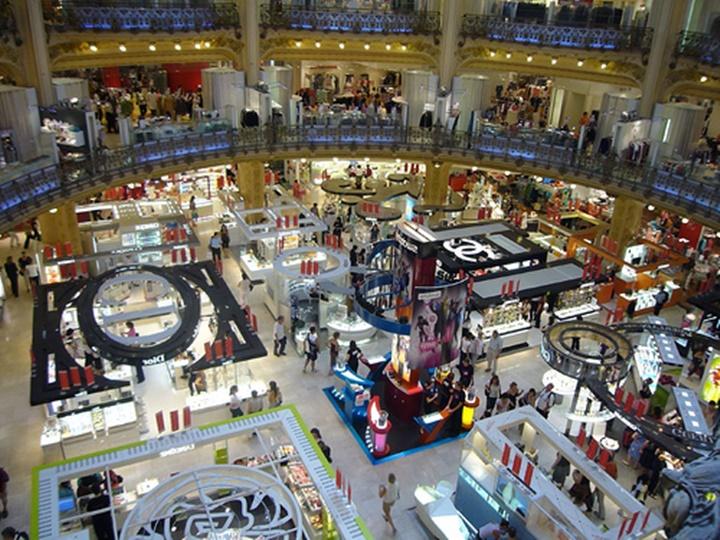 Paris Galeries Lafeyette Alışveriş Merkezi _ Paris Alışveriş Merkezi