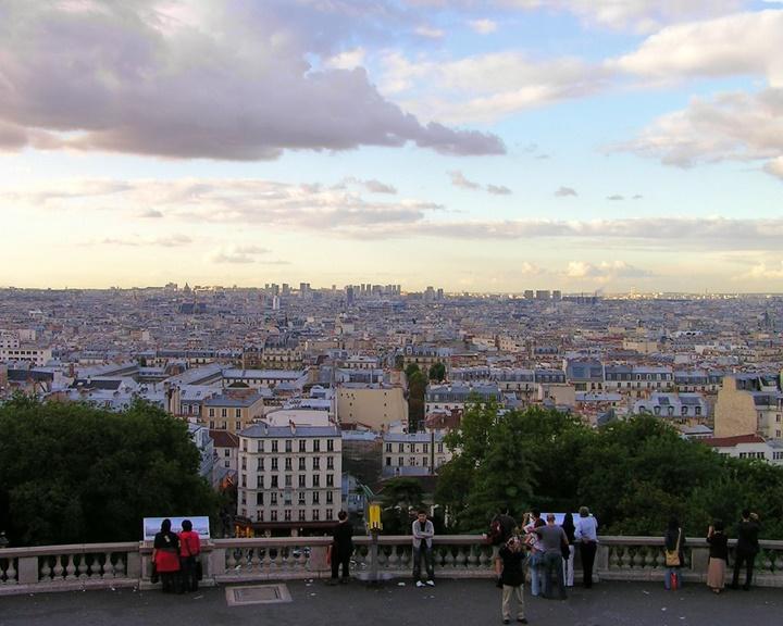 Paris Montmarte Tepesinden manzara