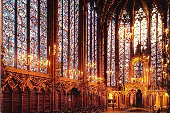 Paris Sainte Şapelinin İçi