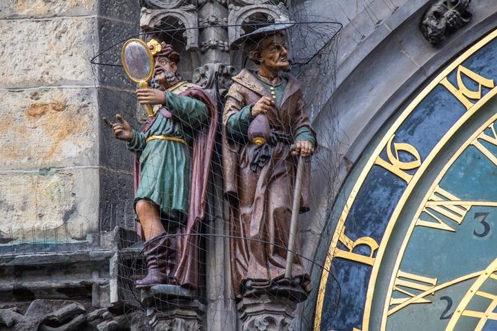 Prag Astronomik saat üzerindeki figürler
