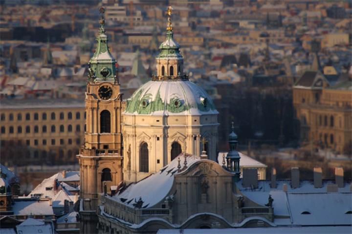 Prag St. Nicholas church kilisesisin kubbesi