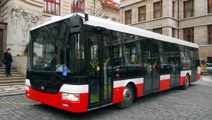 Prag'da otobüsler