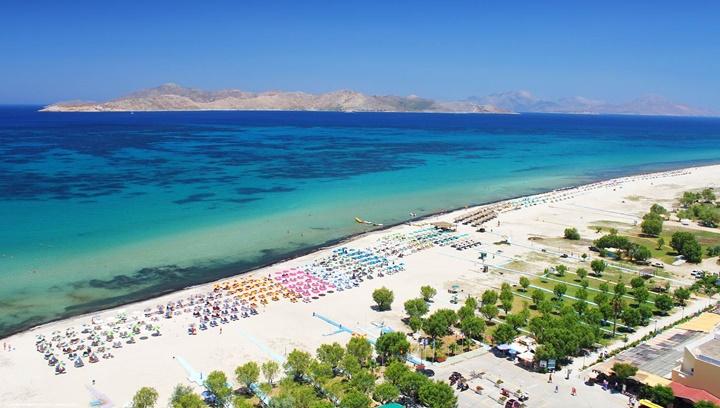 Kos Tigaki plajı - Kos tigaki beach