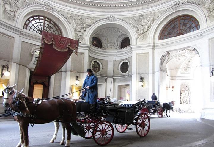 Viyana Hofburg Sisi müzesi - sisinin kullandığı at arabası