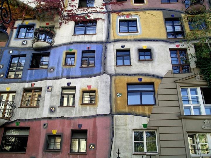 Viyana Hundertwasserhaus - Viyana binsular evinin içi