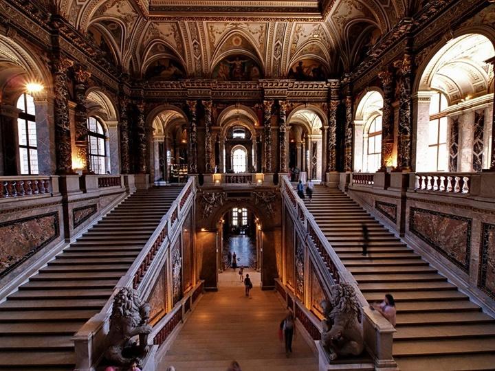 Viyana Kunsthistorisches Müzesinin içi - Viyana Sanat Tarihi Müzesinin içi