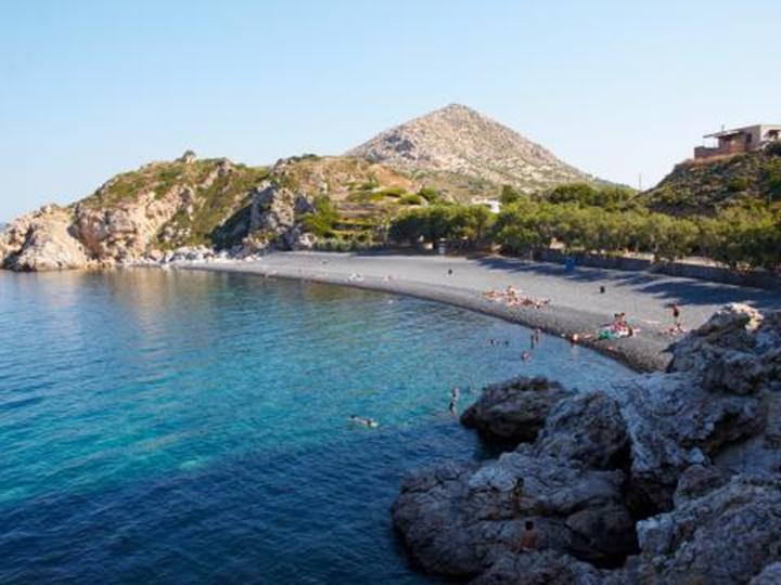 Sakız adası mavra volia plajı