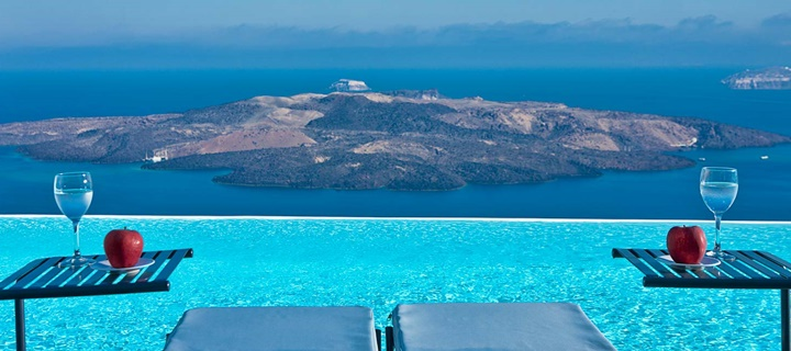 Santorini fira - oia bölgesinde konaklama