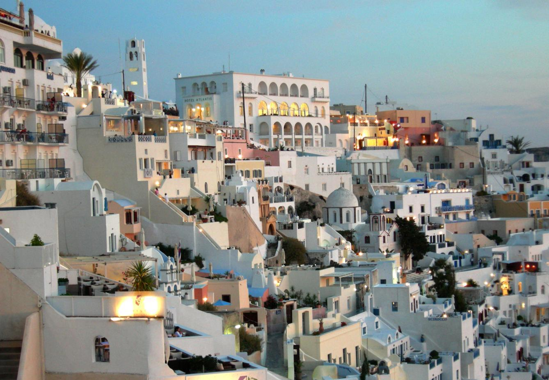 santorini adasında gezilecek yerler - Santorini fira