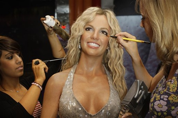 Hollywood-madame-tussaud-müzesinde-yer-alan-heykeller - Britney Spears