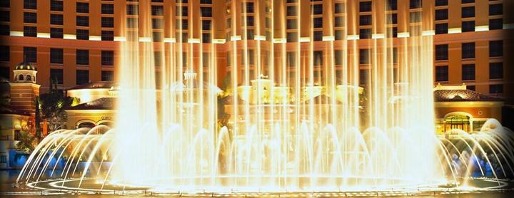 Bellagio otel - dans show