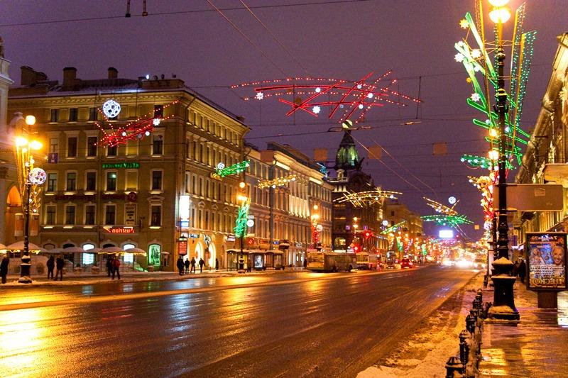 St. Petersburg nevsky caddesi
