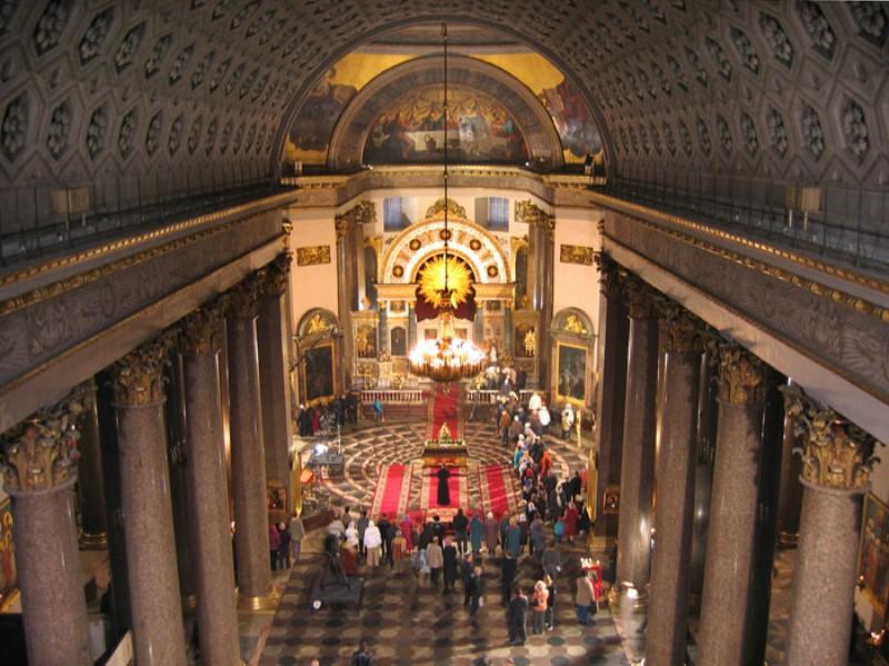 kazan katedralinin içi