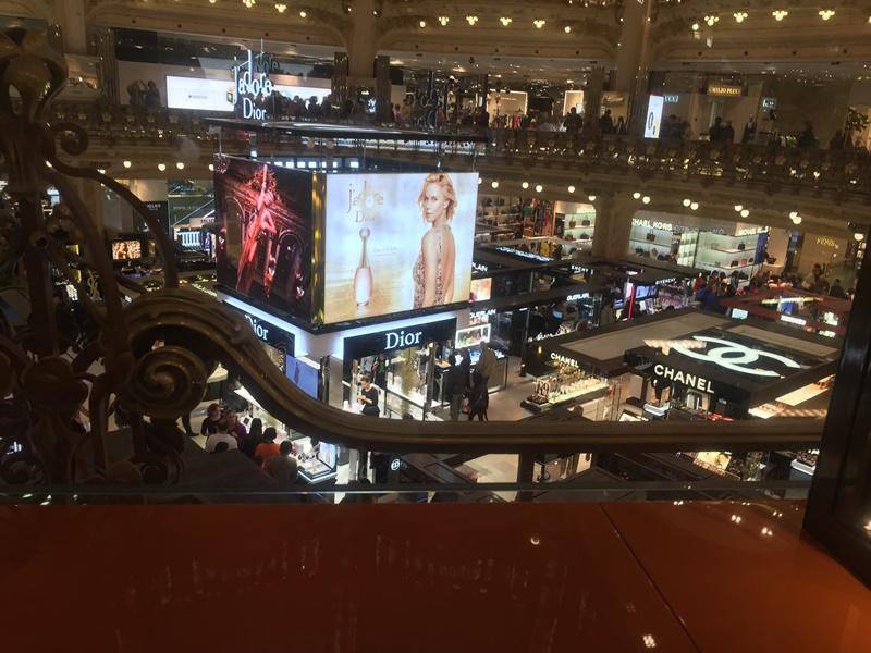 Paris galeries lafeyette alışveriş merkezi